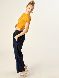Cut The Cord Pant In Sea Navy, Second Alternate View