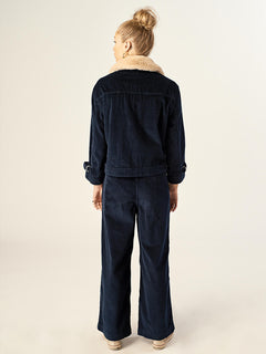 Cut The Cord Pant In Sea Navy, Back View