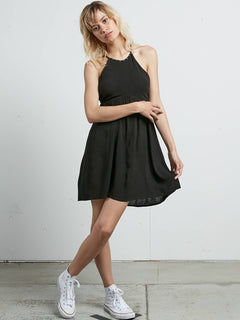 What A Stud Dress In Black, Front View