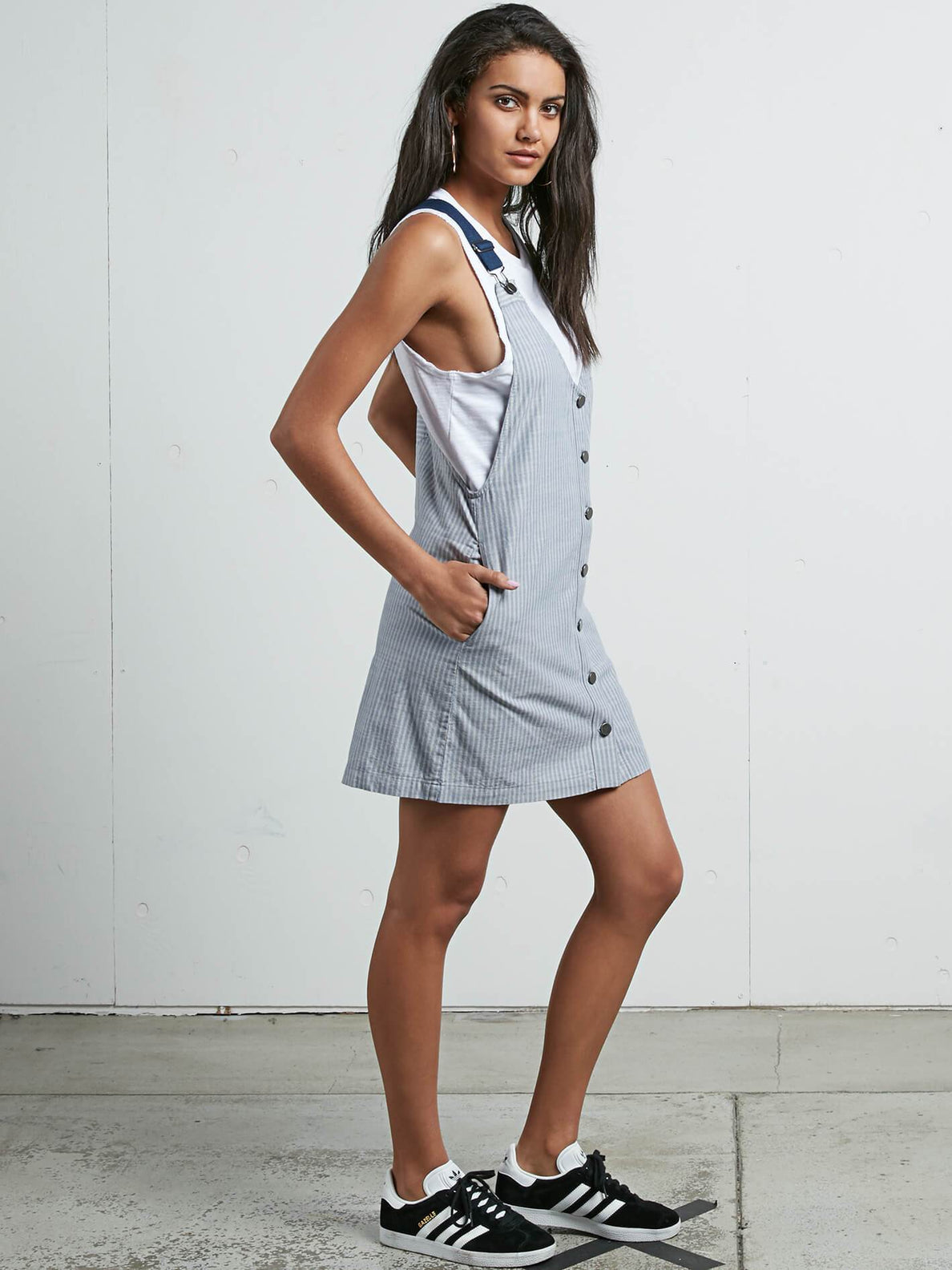 Cham Stripe Dress In Stripe, Alternate View