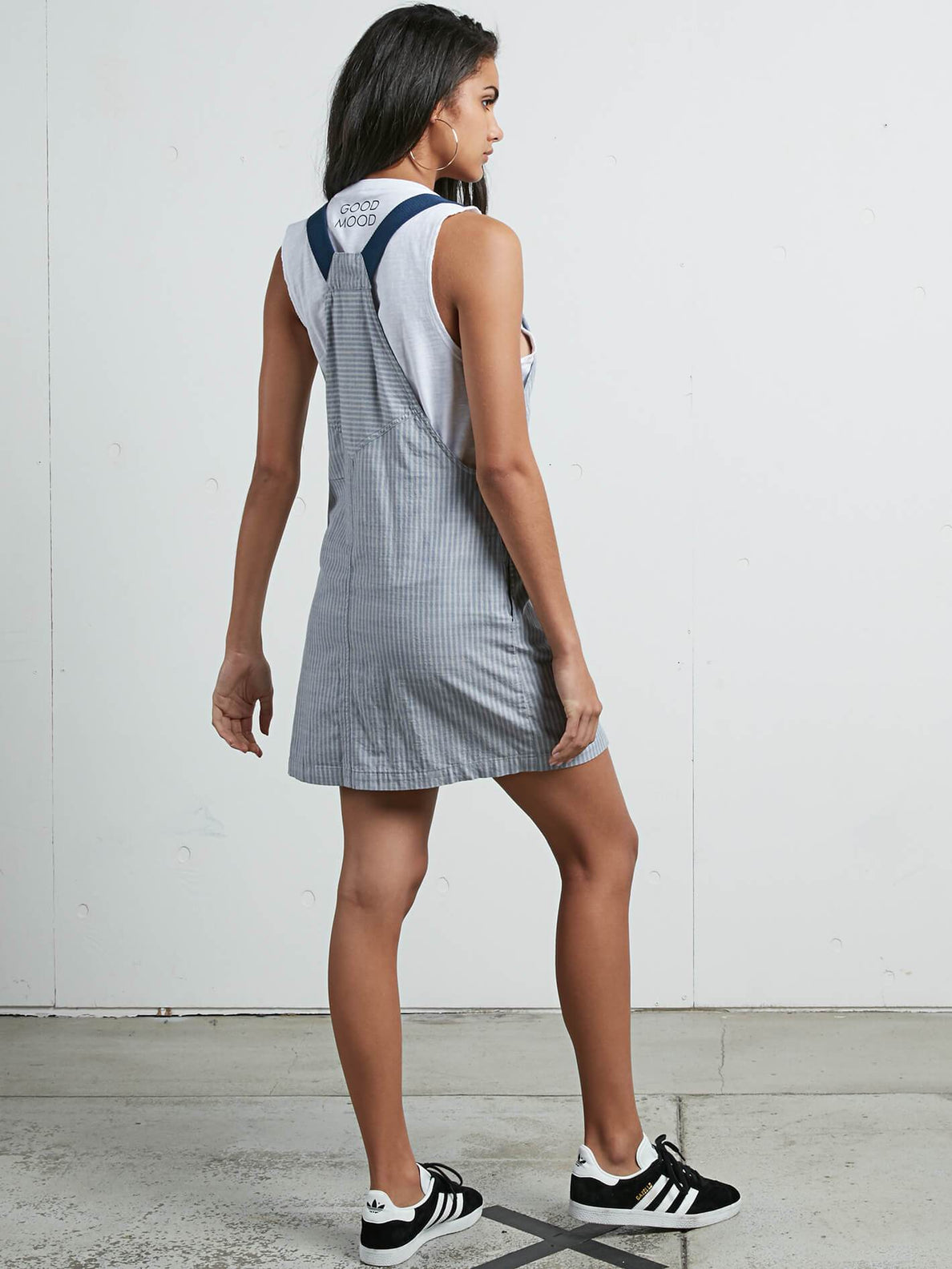 Cham Stripe Dress In Stripe, Back View