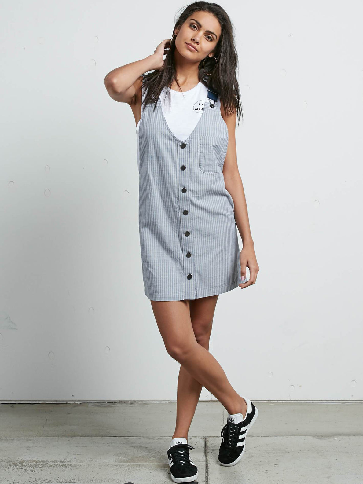 Cham Stripe Dress In Stripe, Front View