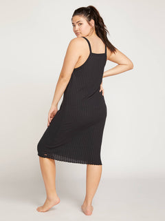 Lived In Lounge Dress In Black, Back Extended Size View