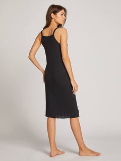 Lived In Lounge Dress In Black, Back View