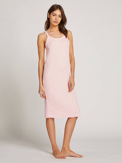 Lived In Lounge Dress In Blush Pink, Front View