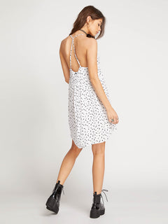 Vol Dot Com Dress In White, Back View