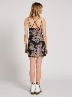 Slushy Hour Dress - Black Floral Print (B1311910_BFP) [2]