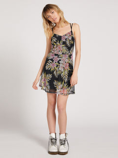 Slushy Hour Dress - Black Floral Print (B1311910_BFP) [3]