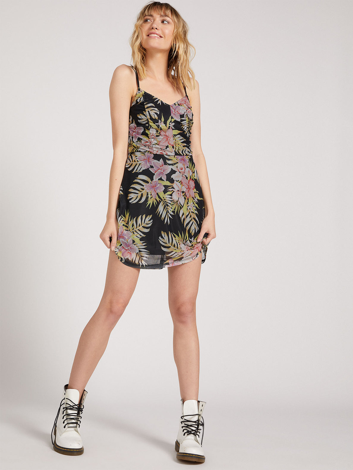 Slushy Hour Dress - Black Floral Print (B1311910_BFP) [B]