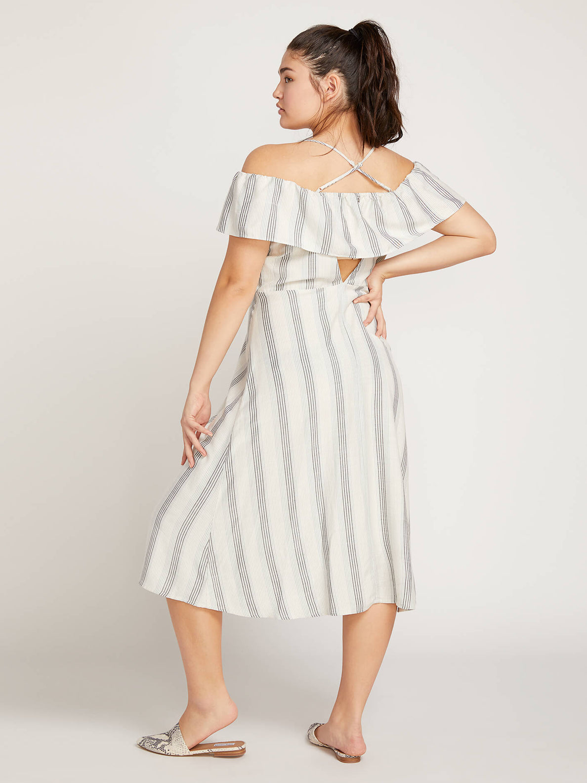 Winding Roads Dress In White Combo, Back Extended Size View