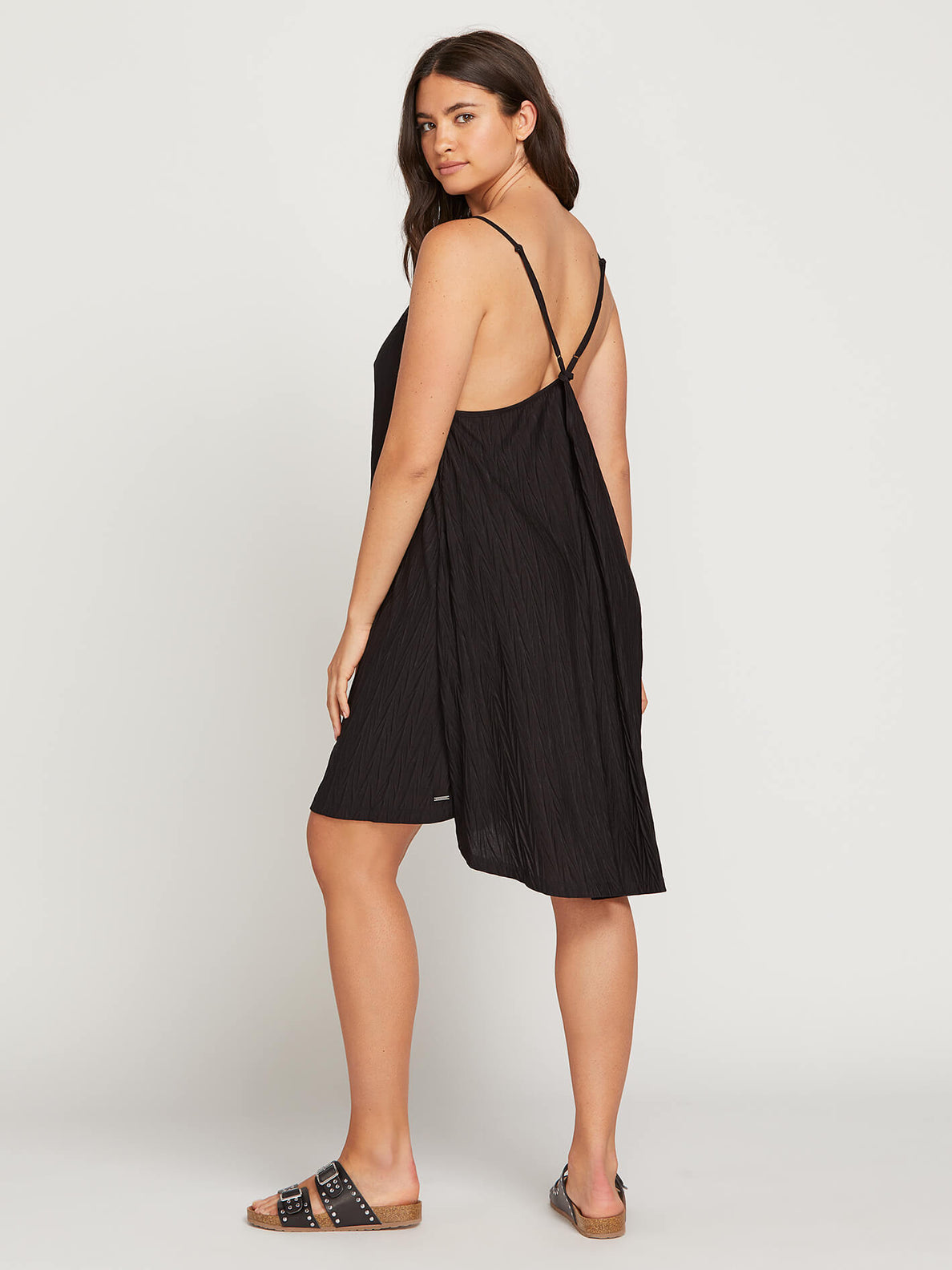 Back 2 Mentality Dress In Black, Back Extended Size View