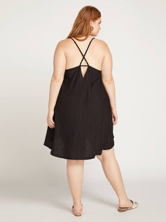 Back 2 Mentality Dress In Black, Back Plus Size View