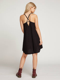 Back 2 Mentality Dress In Black, Back View