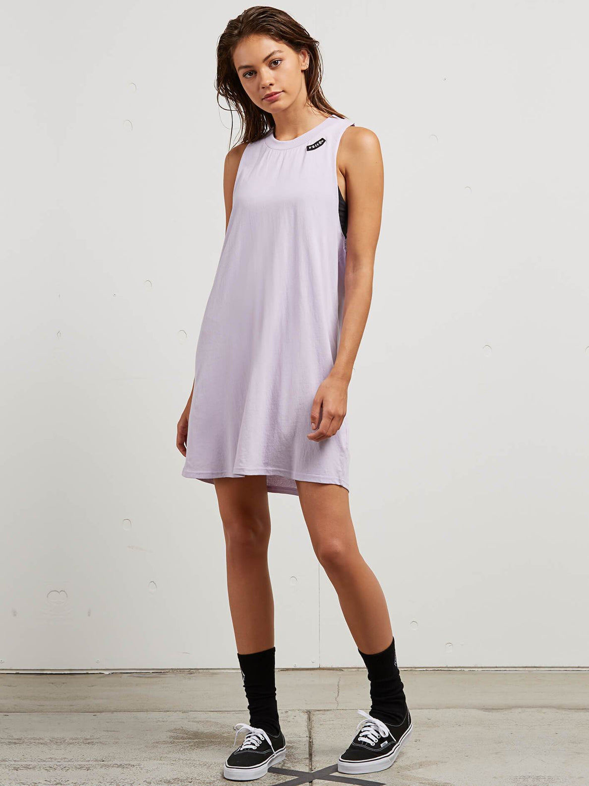 Day By Day Dress In Lavender, Front View