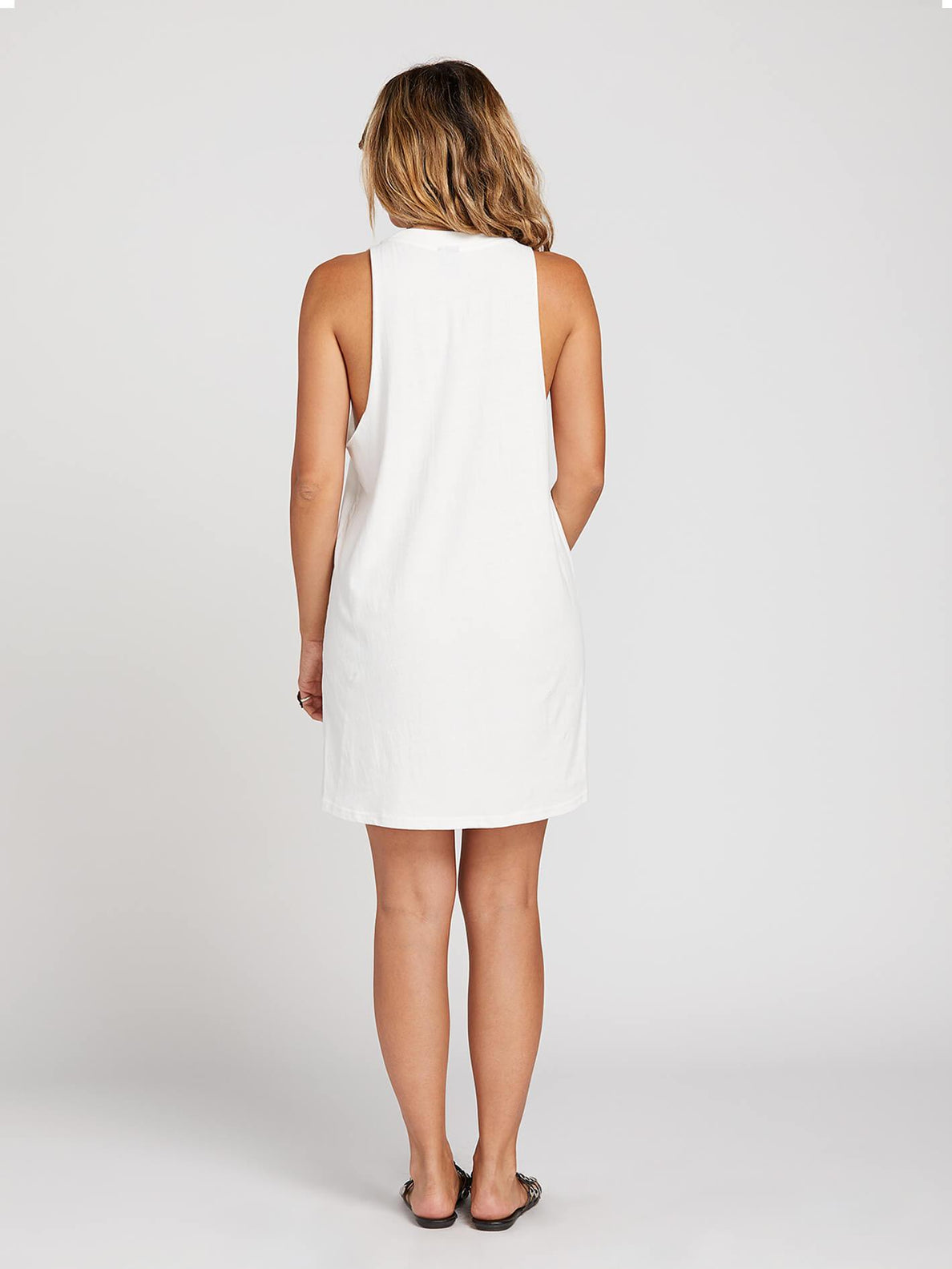 Day By Day Dress In White, Back View