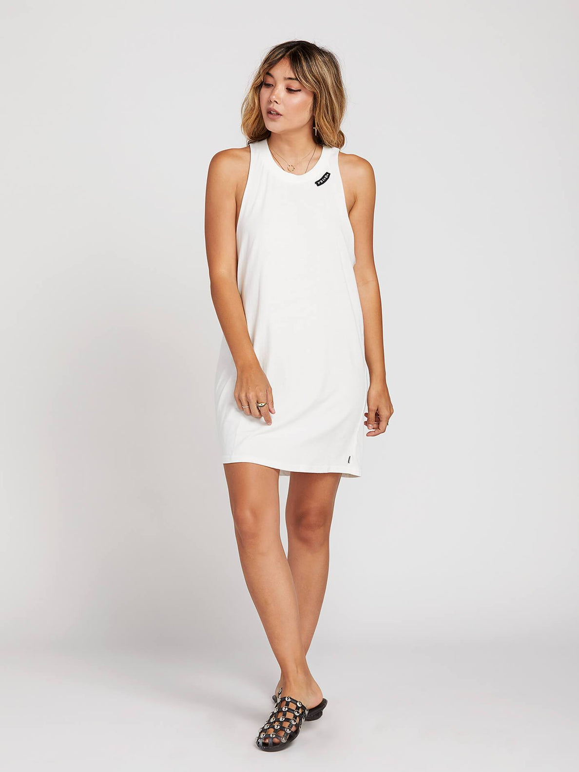 Day By Day Dress In White, Front View