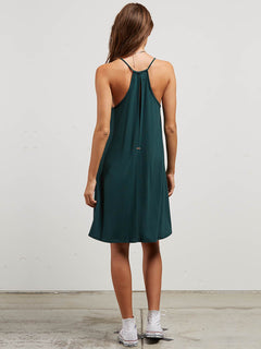 Dessert Vibes Dress In Evergreen, Back View
