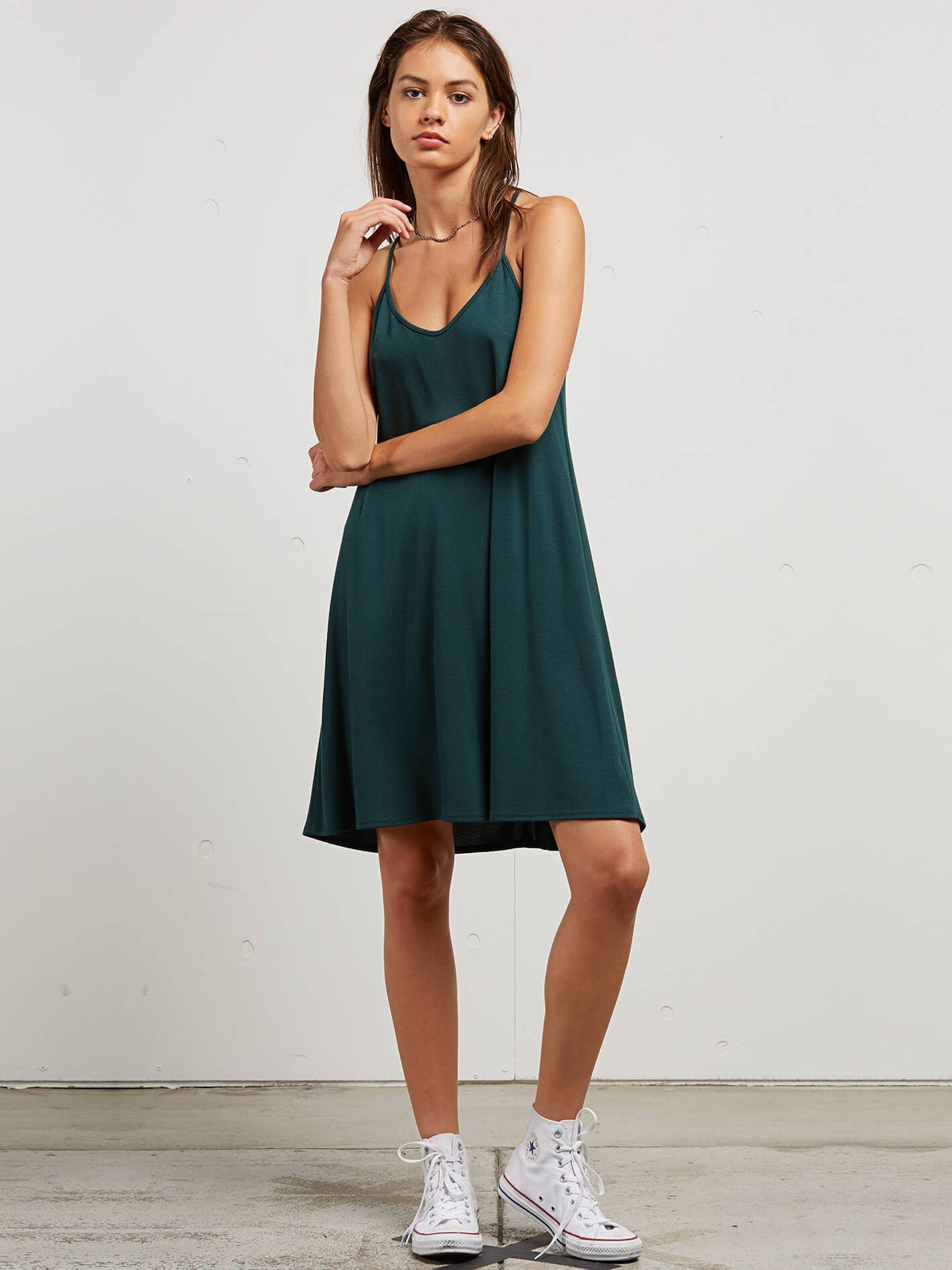 Dessert Vibes Dress In Evergreen, Front View