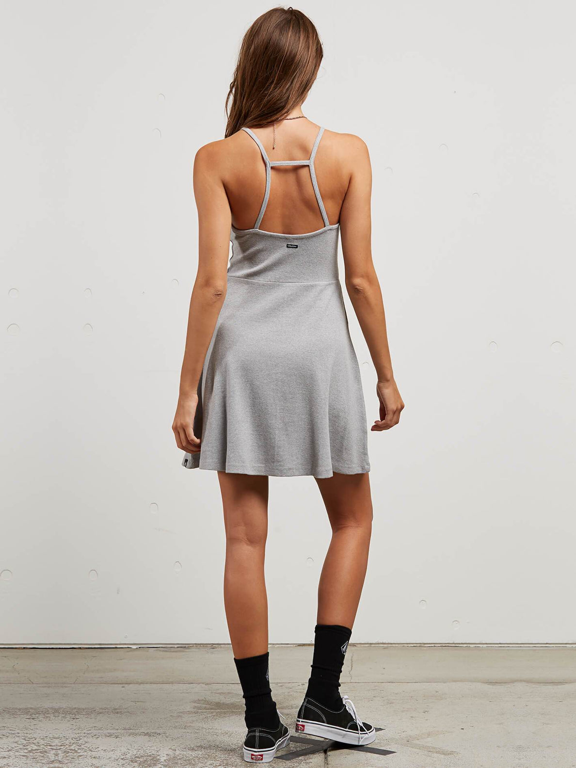Cactus Ridge Dress In Heather Grey, Back View