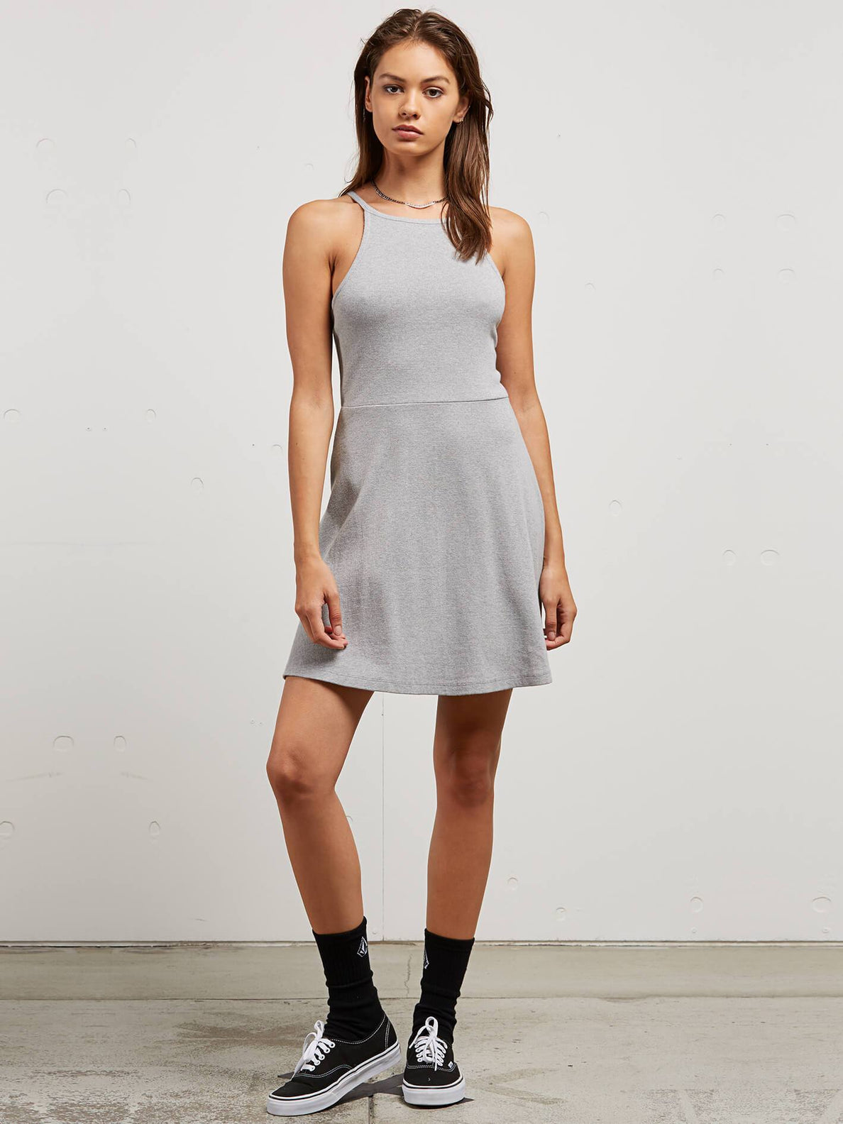 Cactus Ridge Dress In Heather Grey, Front View