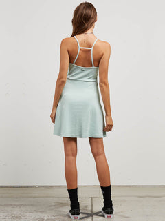 Cactus Ridge Dress In Mint, Back View