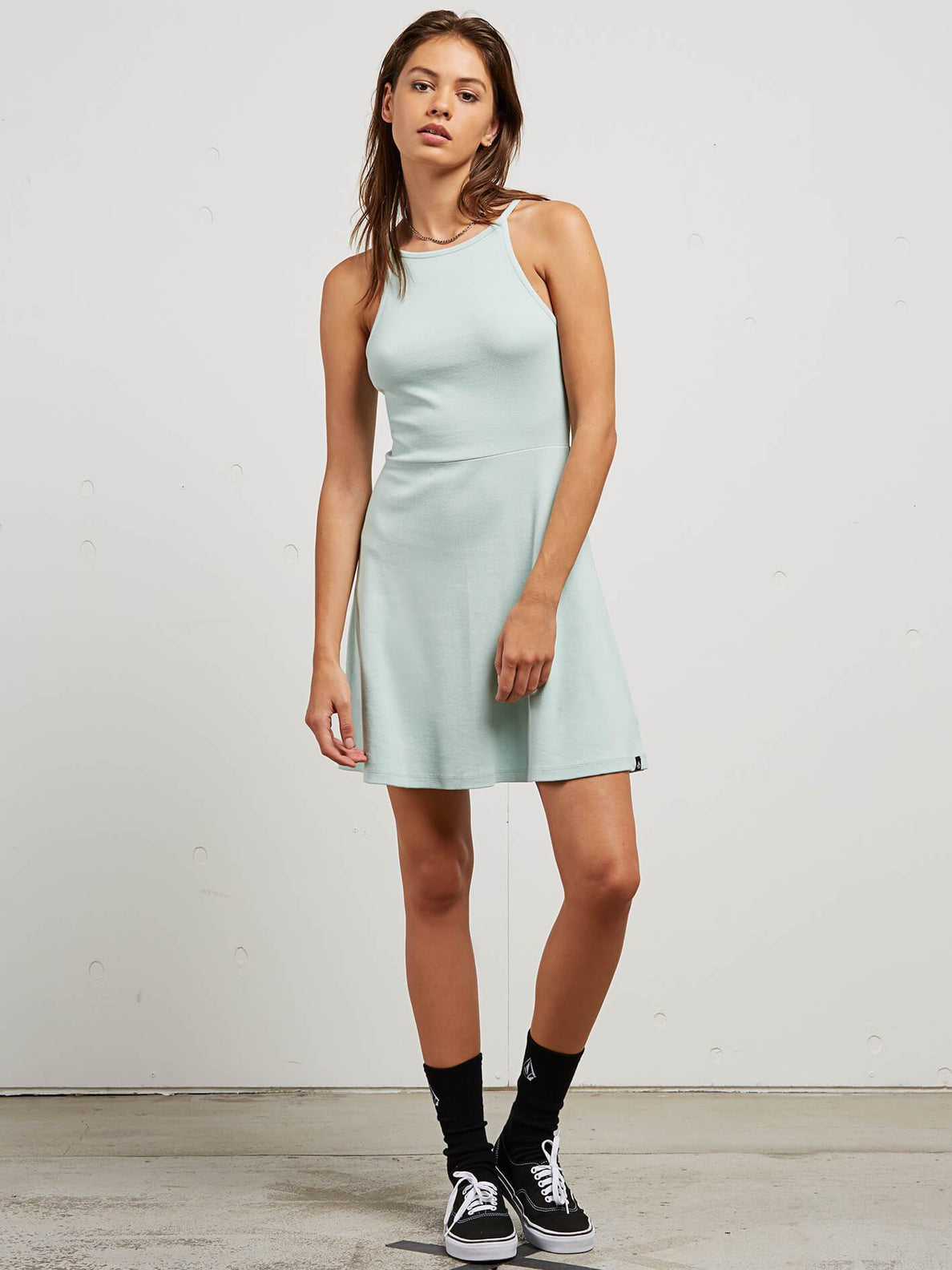 Cactus Ridge Dress In Mint, Front View