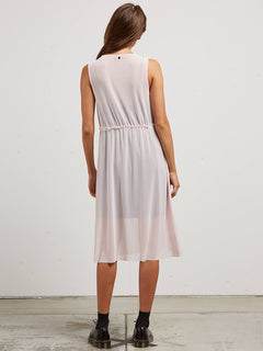Vol Stratum Dress In Light Pink, Back View