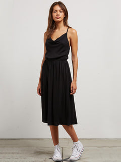 Mystic Mama Dress In Black, Front View
