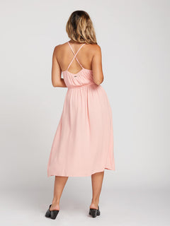 Mystic Mama Dress In Coral Haze, Back View