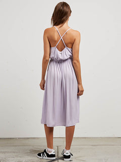 Mystic Mama Dress In Lavender, Back View
