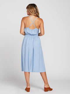 Mystic Mama Dress In Misty Blue, Back View