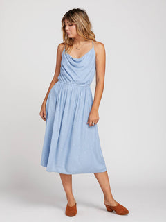 Mystic Mama Dress In Misty Blue, Front View