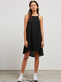 Soul Window Dress In Black, Front View
