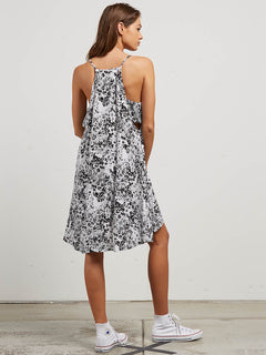 Soul Window Dress In Black White, Back View
