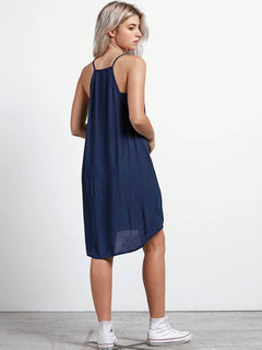 Soul Window Dress In Sea Navy, Back View