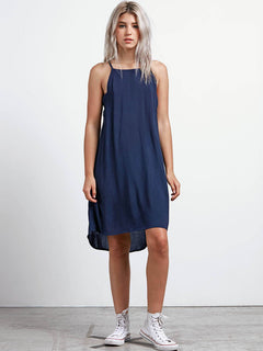 Soul Window Dress In Sea Navy, Front View