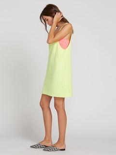 Neon And On Dress In Neon Yellow, Alternate View