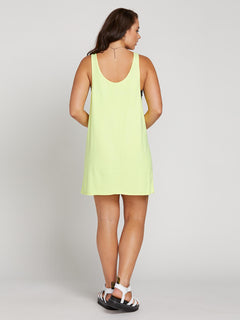 Neon And On Dress In Neon Yellow, Back Extended Size View