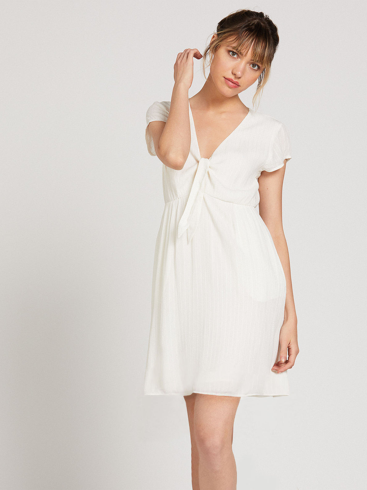 Anytime N Place Dress - White (B1322001_WHT) [F]
