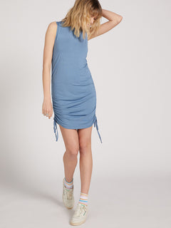 Cinch U Were Gone Dress - Laguna Blue (B1322013_LAG) [B]