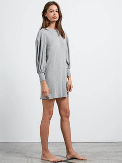 dd6fedc557 ... Lived In Lounge Long Sleeve Dress In Heather Grey