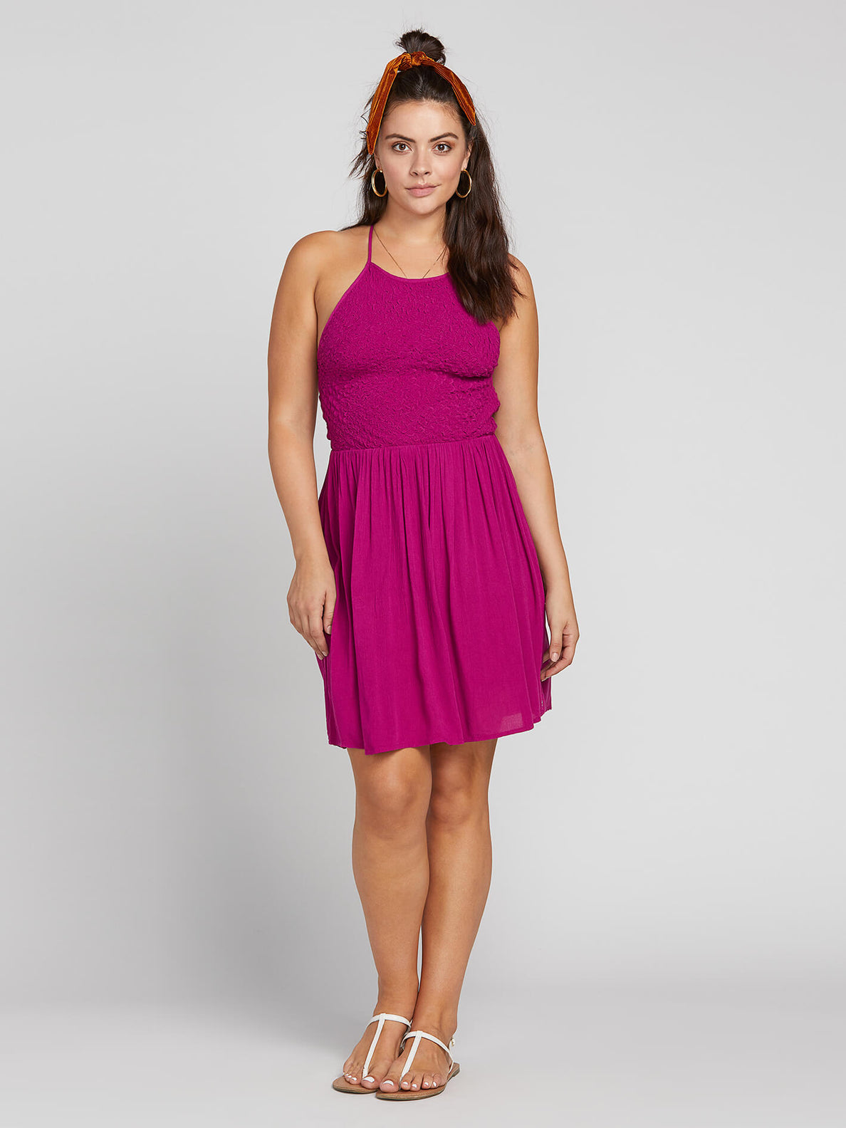 Haute Stone Dress In Paradise Purple, Front Extended Size View
