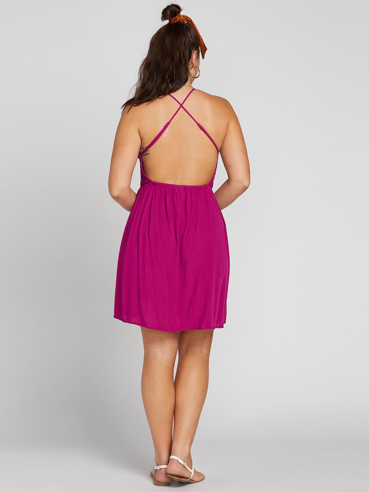 Haute Stone Dress In Paradise Purple, Back Extended Size View