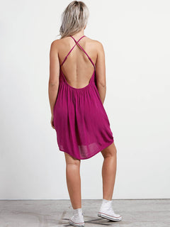 Haute Stone Dress In Paradise Purple, Back View