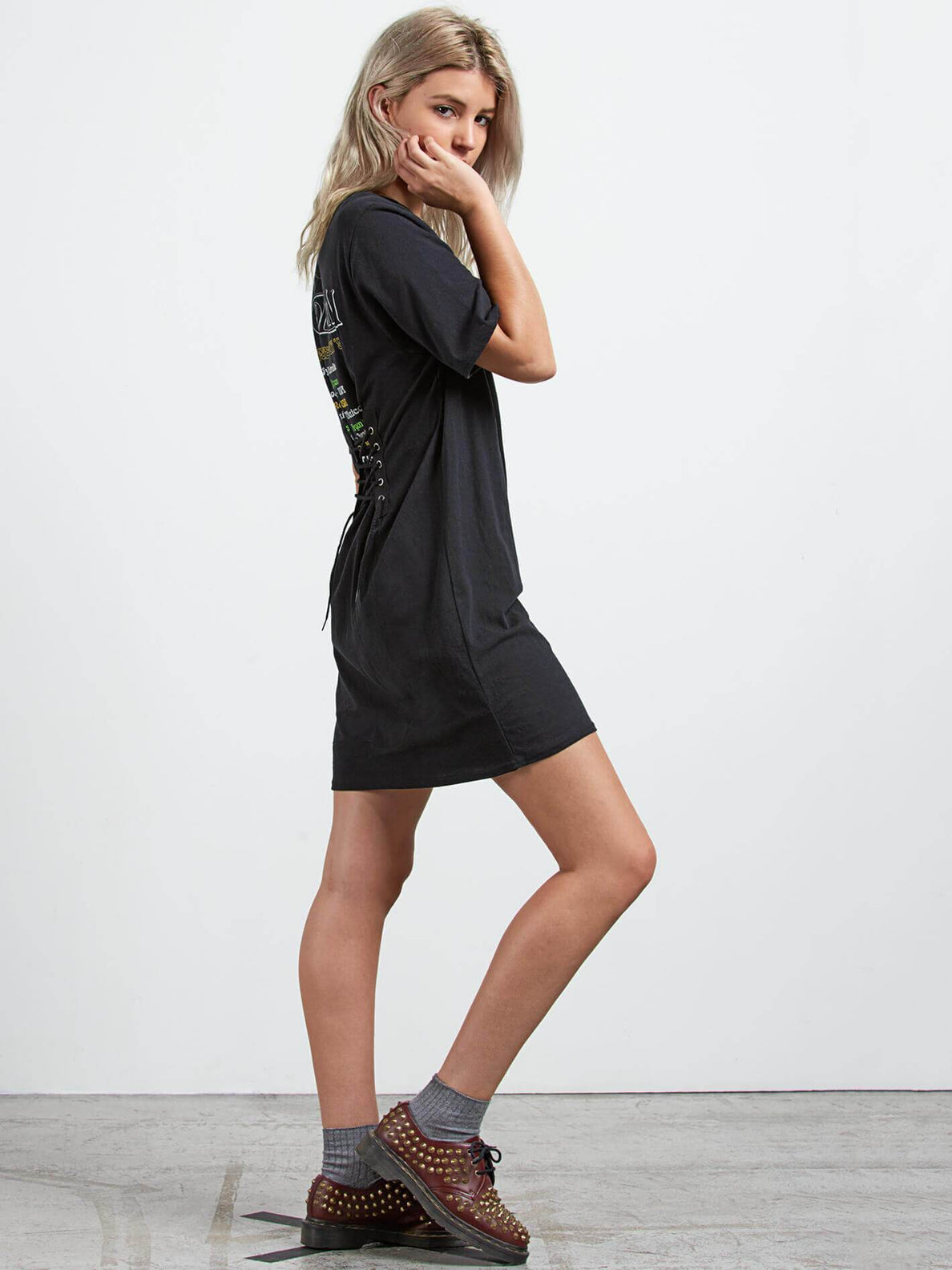 Core Set Dress In Black, Alternate View
