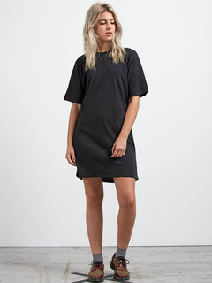 Core Set Dress In Black, Front View