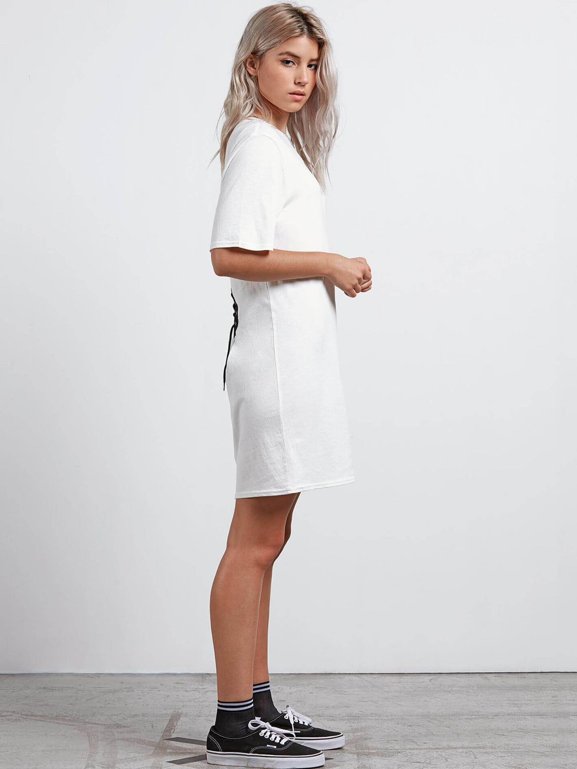 Core Set Dress In White, Alternate View
