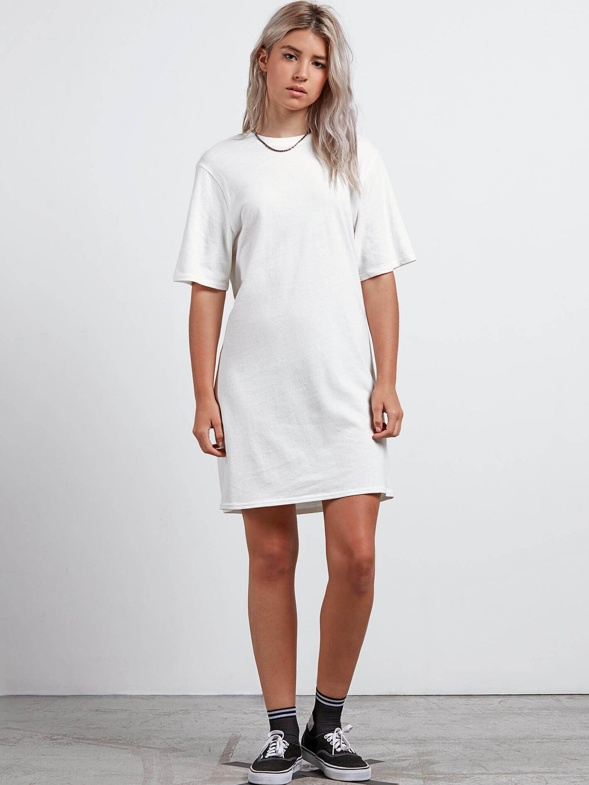 Core Set Dress In White, Front View