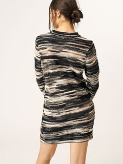 Foiled Again Dress In Black Combo, Back View