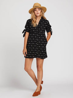 Travel High Dress In Black, Front View